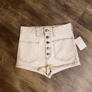 Free People We The Free Size 27 Cream High shorts